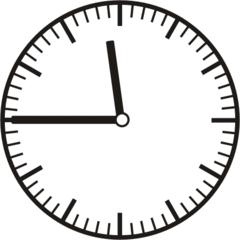 Uhrzeit  11.45    23.45 - Uhr, Uhrzeit, dreiviertel, viertel vor, Zeit, Zeitspanne, Zeitpunkt, Zeiger, Mechanik, Zeitskala, Zeitgeber, Analoguhr, Zifferblatt, Ziffernblatt, rechtsdrehend, Uhrzeigersinn, Minute, Stunde, Kreis, Winkel, Grad, Mathematik, Größen, messen, time, clock, ermitteln, Zeitraum, Dauer, Frist, Termin, Zeitabschnitt, quarter