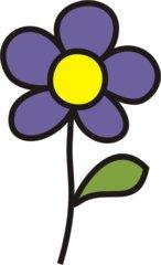 Blume lila - Blumen, Blume, Garten, Wiese, lila, Anlaut B