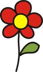 Blume rot - Blumen, Blume, Garten, Wiese, rot, Anlaut B