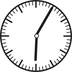 Uhrzeit  6.05   18.05 - Uhr, fünf Minuten, Uhrzeit, Zeit, Zeitspanne, Zeitpunkt, Zeiger, Mechanik, Zeitskala, Zeitgeber, Analoguhr, Zifferblatt, Ziffernblatt, rechtsdrehend, Uhrzeigersinn, Minute, Stunde, Kreis, Winkel, Grad, Mathematik, Größen, messen, time, clock, ermitteln, Zeitraum, Dauer, Frist, Termin, Zeitabschnitt, five minutes