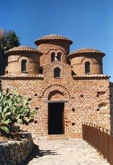 La Cattolica - Kirche, byzantinisch, Kalabrien, Italien, Ziegel, Ziegelbau