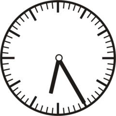 Uhrzeit   6.25   18.25 - Uhr, fünf Minuten vor, Uhrzeit, Zeit, Zeitspanne, Zeitpunkt, Zeiger, Mechanik, Zeitskala, Zeitgeber, Analoguhr, Zifferblatt, Ziffernblatt, rechtsdrehend, Uhrzeigersinn, Minute, Stunde, Kreis, Winkel, Grad, Mathematik, Größen, messen, time, clock, ermitteln, Zeitraum, Dauer, Frist, Termin, Zeitabschnitt, twenty-five
