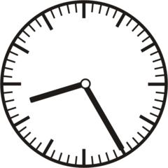 Uhrzeit  8.25   20.25 - Uhr, fünf Minuten vor, Uhrzeit, Zeit, Zeitspanne, Zeitpunkt, Zeiger, Mechanik, Zeitskala, Zeitgeber, Analoguhr, Zifferblatt, Ziffernblatt, rechtsdrehend, Uhrzeigersinn, Minute, Stunde, Kreis, Winkel, Grad, Mathematik, Größen, messen, time, clock, ermitteln, Zeitraum, Dauer, Frist, Termin, Zeitabschnitt, twenty-five