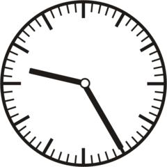 Uhrzeit  9.25   21.25 - Uhr, fünf Minuten vor, Uhrzeit, Zeit, Zeitspanne, Zeitpunkt, Zeiger, Mechanik, Zeitskala, Zeitgeber, Analoguhr, Zifferblatt, Ziffernblatt, rechtsdrehend, Uhrzeigersinn, Minute, Stunde, Kreis, Winkel, Grad, Mathematik, Größen, messen, time, clock, ermitteln, Zeitraum, Dauer, Frist, Termin, Zeitabschnitt, twenty-five