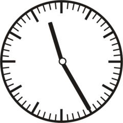 Uhrzeit 11.25  23.25 - Uhr, fünf Minuten vor, Uhrzeit, Zeit, Zeitspanne, Zeitpunkt, Zeiger, Mechanik, Zeitskala, Zeitgeber, Analoguhr, Zifferblatt, Ziffernblatt, rechtsdrehend, Uhrzeigersinn, Minute, Stunde, Kreis, Winkel, Grad, Mathematik, Größen, messen, time, clock, ermitteln, Zeitraum, Dauer, Frist, Termin, Zeitabschnitt, twenty-five