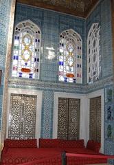 Bagdad-Pavillon im Topkapi-Palast-Innenansicht - Türkei, Istanbul, Osmanisches Reich, Konstantinopel, Topkapi-Palast, Kacheln, Fayencen, Murat IV