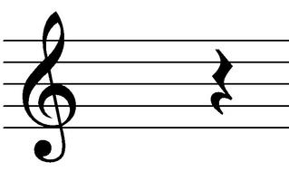 Viertelpause - Noten, Notation, Pausenzeichen