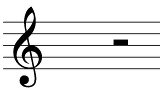 Halbe Pause - Noten, Notation, Pausenwert