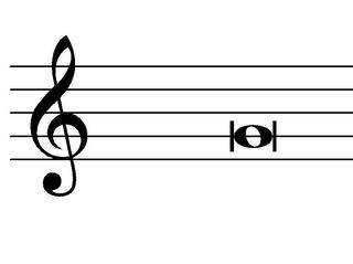 Doppelganze Note - Brevis - Note, Notation, Notenwert, Brevis