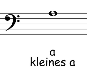 Bassschlüssel: a - Noten, Notation, Notenschlüssel