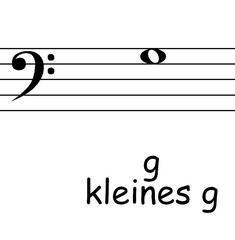 Bassschlüssel: g - Noten, Notation, Notenschlüssel