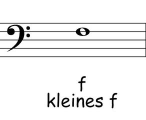 Bassschlüssel: f - Noten, Notation, Notenschlüssel