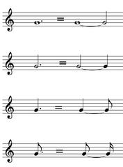 Punktierte Noten - Noten, Notation, Notenwerte