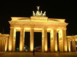 Brandenburger Tor - Berlin, Stadt, Brandenburger Tor, Hauptstadt, Abend, beleuchtet
