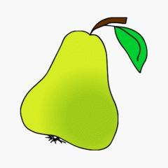 Birne - Obst, Nahrung, Anlaut B, Kernobst, Birne