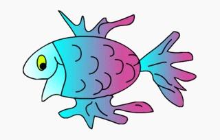 Fisch#6  - Fisch, Aquarium, Meer, schwimmen, Anlaut F, Illustration, Wörter mit sch