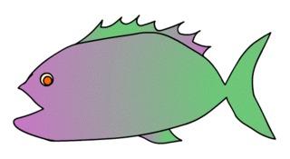 Fisch#2  - Fisch, Aquarium, Meer, schwimmen, Anlaut F, Illustration, Wörter mit sch