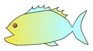 Fisch#1 - Fisch, Aquarium, Meer, schwimmen, Anlaut F, Illustration, Wörter mit sch