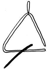 Triangel - Musik, Instrument, Orff-Instrument, Dreieck, dreieckig, Schlaginstrument