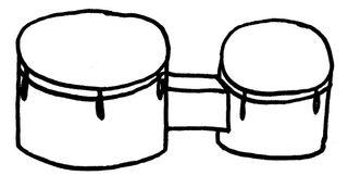 Bongos - Musik, afrikanische Trommel, Trommel, Orff-Instrument, Instrument, Schlaginstrument