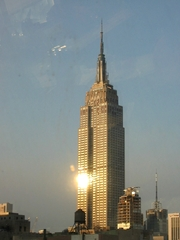 New York - Empire State Building - Amerika, USA, New York, Empire State Building, Wolkenkratzer, Skyscraper, Skyline, Gebäude, Haus, Hochhaus, Manhattan, Sonnenuntergang