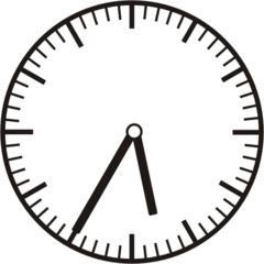 Uhrzeit 5.35 17.35 - Uhr, fünf Minuten nach halb, Uhrzeit, Zeit, Zeitspanne, Zeitpunkt, Zeiger, Mechanik, Zeitskala, Zeitgeber, Analoguhr, Zifferblatt, Ziffernblatt, rechtsdrehend, Uhrzeigersinn, Minute, Stunde, Kreis, Winkel, Grad, Mathematik, Größen, messen, time, clock, ermitteln, Zeitraum, Dauer, Frist, Termin, Zeitabschnitt, thirty-five