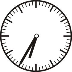 Uhrzeit 6.35 18.35 - Uhr, fünf Minuten nach halb, Uhrzeit, Zeit, Zeitspanne, Zeitpunkt, Zeiger, Mechanik, Zeitskala, Zeitgeber, Analoguhr, Zifferblatt, Ziffernblatt, rechtsdrehend, Uhrzeigersinn, Minute, Stunde, Kreis, Winkel, Grad, Mathematik, Größen, messen, time, clock, ermitteln, Zeitraum, Dauer, Frist, Termin, Zeitabschnitt, thirty-five