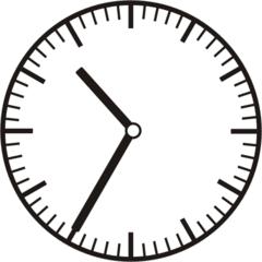 Uhrzeit 10.35  22.35 - Uhr, fünf Minuten nach halb, Uhrzeit, Zeit, Zeitspanne, Zeitpunkt, Zeiger, Mechanik, Zeitskala, Zeitgeber, Analoguhr, Zifferblatt, Ziffernblatt, rechtsdrehend, Uhrzeigersinn, Minute, Stunde, Kreis, Winkel, Grad, Mathematik, Größen, messen, time, clock, ermitteln, Zeitraum, Dauer, Frist, Termin, Zeitabschnitt, thirty-five