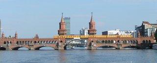 Oberbaumbrücke  - Spree, Brücke, Berlin, Oberbaumbrücke, Industriedenkmal, Wasser, Fluss