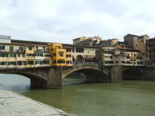 Ponte Vecchio - Florenz, Toskana, Italien, Brücke, Architektur, Ponte Vecchio, Segmentbogenbrücke
