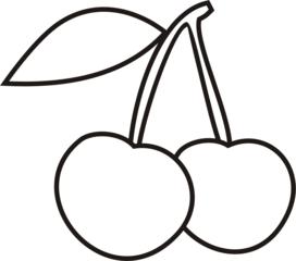 Kirschen - Kirsche, Kirschen, Früchte, Obst, Anlaut K, Steinobst, Kern, zwei, Mehrzahl, Wörter mit sch