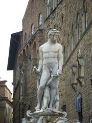 Neptunbrunnen in Florenz - Neptun, Bartolomeo Ammanati, Florenz, Italien, Toskana, Bildhauerei, Skulptur, römischer Gott, Gott des Meeres