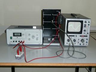 Auf- und Entladekurve eines Kondensators - Physik, Aufladung, Entladung, Kondensator, Widerstand, Oszilloskop, Kurve, Strom, Elektrizität