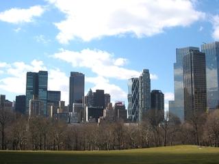 New York - Central Park - Amerika, USA, New York, Central Park, Skyline, Hochhäuser, Manhattan, Stadt, Park, Moderne, Wolkenkratzer
