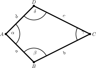 Drachen mit Winkel- und Seitenbeschriftungen - Drachen, Viereck, Geometrie, Figur, eben, plan, Ecke, Winkel, gleichlang, Deltoid