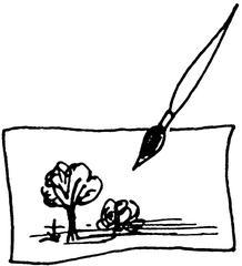 Bild und Pinsel - Bild, Pinsel, malen, Malerei, Illustration, Kunst, Gemälde
