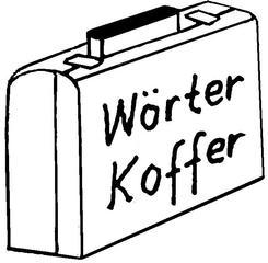 Wörterkoffer - Koffer, Spiel, Illustration, Spiel, Wörterkoffer, Laufzettel, Stationen