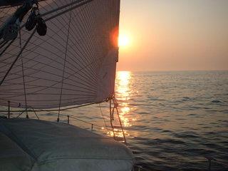 Sommertag auf der Ostsee - Sonne, Meer, Wasser, Flaute, Schiff, Segelschiff