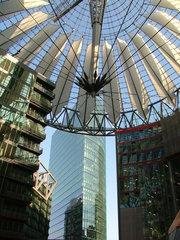 Sonycenter - Sonycenter, Berlin, Hauptstadt, Glaskuppel, Verstrebung