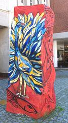 Uelzen - Weg d. Steine - Stein der Freiheit - Stein, Skulptur, Kunst, Kunstobjekt, Plastik, Farbe, farbig, bunt