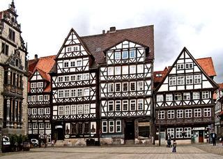 Hannoversch-Münden Marktplatz - Markt, Marktplatz, Haus, Häuser, Fachwerk, Fachwerkhaus, Platz, alt, historisch, Rathaus