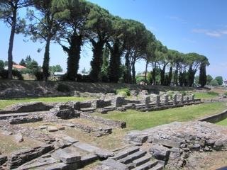 Aquileia - Ausgrabungen Porto Fluviale #5 - Italien, Aquileia, Hafen, Porto, Ausgrabung, Ruine, Mauerreste, Binnenhafen