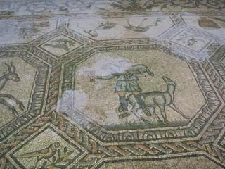 römisches Mosaik - Römer, Mosaik, Kirche, Basilika, Stein, Schäfer, Italien, Aquileia, Maltechnik, Altertum, Mosaikkunst