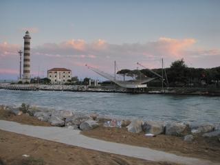 Fischernetz - Leuchtturm, Meer, Abend, Leuchtfeuer, Fluss, Strand, Italien, Netz, Fischernetz, Abend, engmaschig, netzförmig, Gewebe, Fischfang