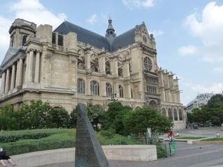 Paris - Eglise Saint Eustache - Paris, Frankreich, Kirche, katholisch, gotisch, Gotik, Kathedrale, spitz, Außenansicht, Religion, Architektur