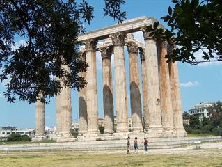 Athen  - Athen, Tempel, korinthische Säulen, Zeus, Olympieion