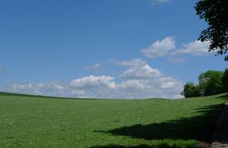 Landschaft - Landschaft, Himmel, Wolken, Wiese, Meditation, Schreibanlass