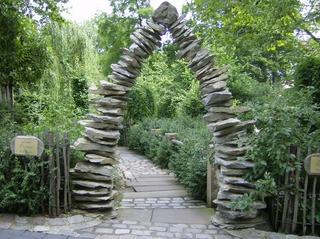 Steindurchgang - Durchgang, Steindurchgang, Steine, Weg, Parabel, Höhe, Perspektive, Mathematik