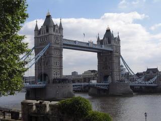Tower Bridge - London, England, Tower Bridge, Brücke, Fluss, Themse, Straßenbrücke, Neugotik