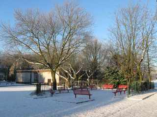 Winterszene mit Schnee - Winter, Jahreszeiten, Schnee, Landschaft, kahl, Bäume